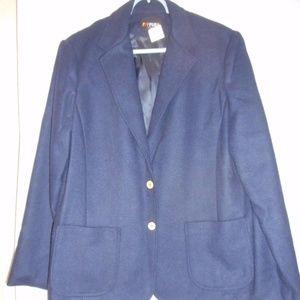 Vintage Women's Size 14 Navy Blue wool Blazer